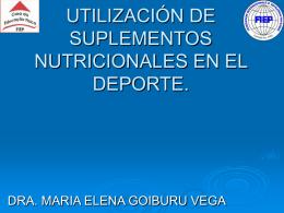 utilización de suplementos nutricionales en el