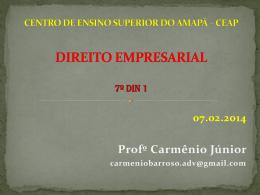 DIREITO EMPRESARIAL PARTE GERAL E SOCIEDADES