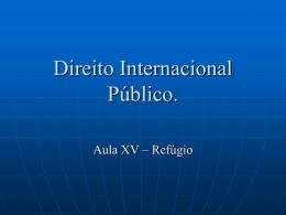 Direito Internacional Público.
