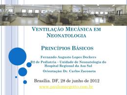 Ventilação mecânica em neonatologia