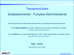 TransactionCentre Web