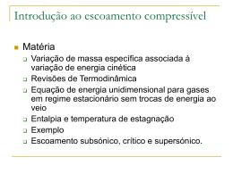 Aula 13 - Introdução ao escoamento compressível