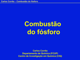 Combustão do fósforo - PowerPoint