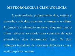 U1 - Meteorologia e Climatologia