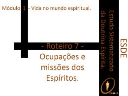 ESDE-Ocupações e missões dos Espíritos