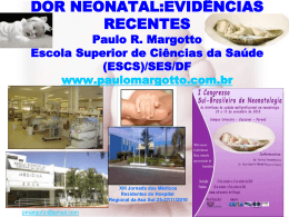 Dor Neonatal: evidências recentes