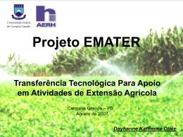 Projeto Emater - Universidade Federal de Campina Grande