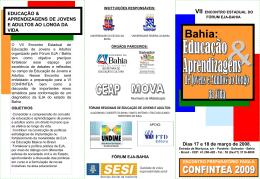 programação - Portal dos Fóruns de EJA