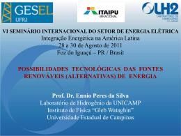 Prof. Ennio Peres da Silva – Universidade de Campinas