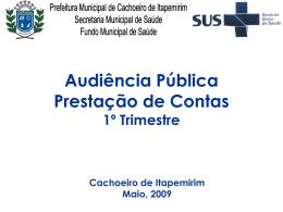 Prestacao_contas_1ºtri2009 - Prefeitura Municipal de Cachoeiro de