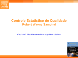 CAP. 2 - Estatística Industrial - Controle Estatístico de Qualidade