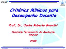Apresentação Prof. Dr. Carlos Roberto Grandini