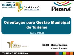 Curso Gestão Municipal do Turismo