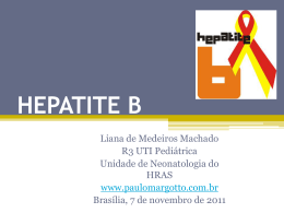HEPATITE B - Paulo Roberto Margotto
