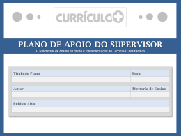 plano de apoio do supervisor