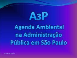 Diagnóstico da A3P na Prefeitura Municipal de São Paulo