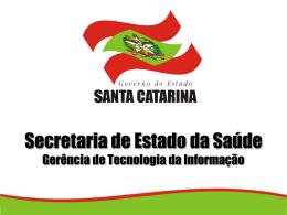 RIPSA no Estado SC - Secretaria Estadual de Saúde