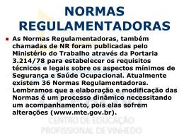 Aula 2 – Normas regulamentadoras