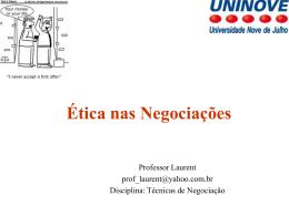 Ética nas Negociações