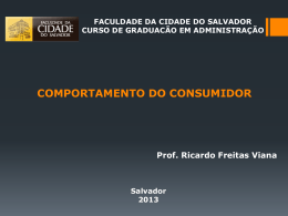 comportamento do consumidor - Administração