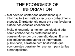 The Economics of Information (George Stigler) – Fernando Siqueira