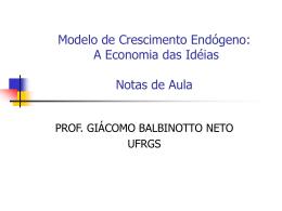 Modelo de Crescimento Endogeno - Programa de Pós