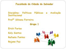 Avaliação – Grupo 1 - Construindo um Aprendizado
