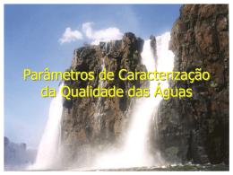 Parâmetros de Caracterização da Qualidade das Águas