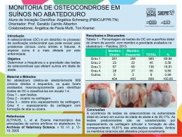 MONITORIA DE OSTEOCONDROSE EM SUÍNOS NO