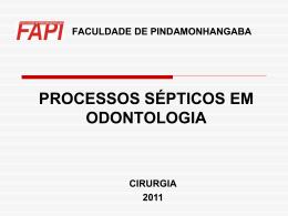 PROCESSOS SÉPTICOS EM ODONTOLOGIA