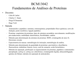 Aula 1 - Aminoácidos e ligação peptídica