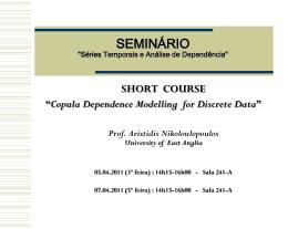 Séries Temporais, Analise de Dependência e Aplicações - IME-USP