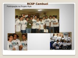 Ações realizadas em 2009 - Rotary Club de São Paulo Cambuci