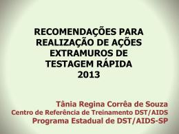 EXPERIÊNCIA DE REALIZAÇÃO DO TRD-HIV