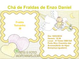 Chá de Fraldas de Enzo Daniel