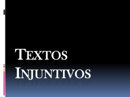 Textos Injuntivos