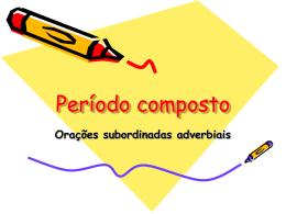 oracao subordinada adverbial