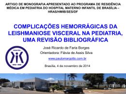 Complicações Hemorrágicas na Leishmaniose Visceral em Pediatria