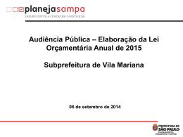 – Audiência Pública – Vila Mariana – 06/09
