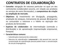 CONTRATOS MERCANTIS EM ESPÉCIE