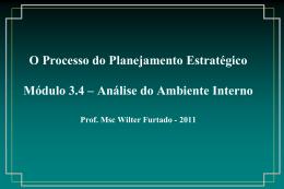 Módulo 3.4 - O Processo do PE - Análise Ambiente Interno
