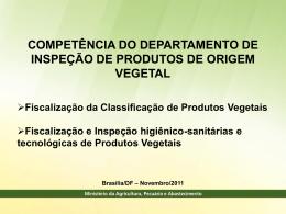 Da Fiscalização da Classificação de Produtos Vegetais Quem
