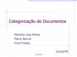 Categorização/Classificação - Centro de Informática da UFPE