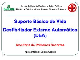 (DEA) Monitoria de Primeiros Socorros