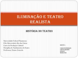 Iluminação e teatro realista