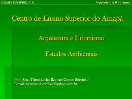 GOMES SOBRINHO, TR Arquitetura e Urbanismo