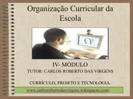 Organização Curricular da Escola