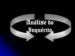 Análise do Inquérito