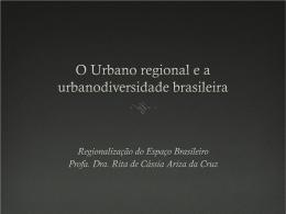 O urbano regional