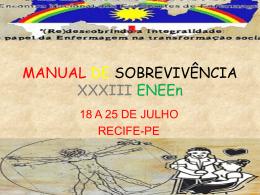 MANUAL DE SOBREVIVÊNCIA XXXIII ENEEn